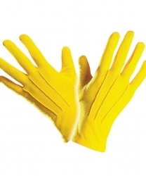 Короткие, желтые перчатки