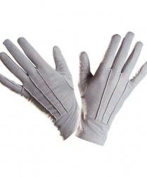 Короткие, серые перчатки