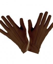 Короткие, коричневые перчатки