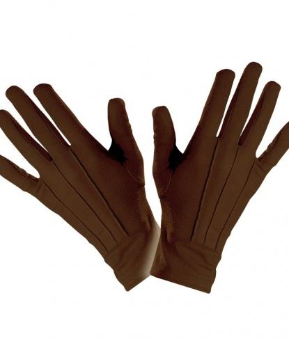 Короткие, коричневые перчатки (Италия)