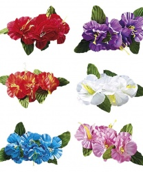 Гавайский цветок на заколке (белый)