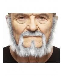 Седая борода с усами