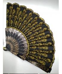 Веер с жёлтой вышивкой (Италия)