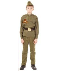 Костюм солдата с прямыми брюками