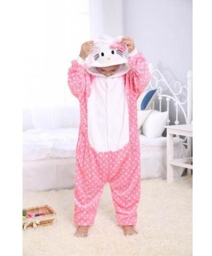 Детский кигуруми Hello Kitty: комбинезон с капюшоном (Китай)