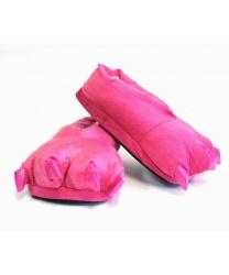 Тапочки Лапы ярко-розовые