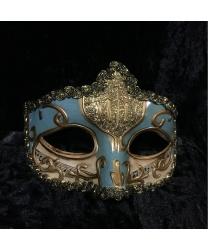 Карнавальная маска Musica (голубая)