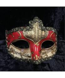 Карнавальная маска Musica (красная)