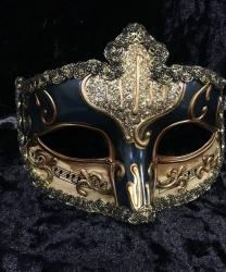 Карнавальная маска Musica (темно-синяя)