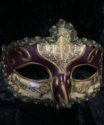Карнавальная маска Musica (бордовая)