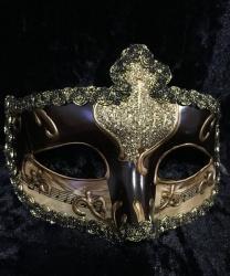 Карнавальная маска Musica (коричневая)