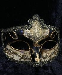 Карнавальная маска Musica (черная)