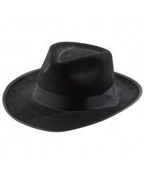 Черная шляпа в стиле 20-х годов