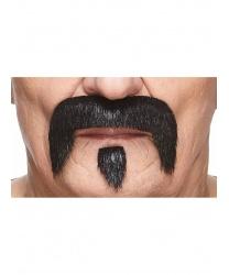 Усы и бородка черные