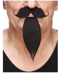 Усы и борода чёрные
