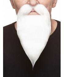 Белая борода с усами