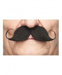 Черные закрученные усы