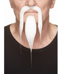 Усы и борода китайца (белые)