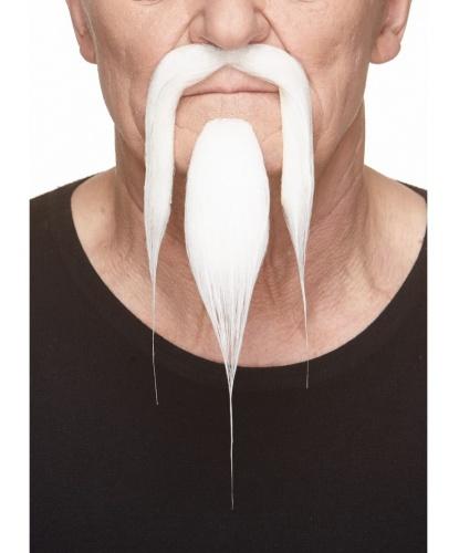 Усы и борода китайца (белые) (Литва)