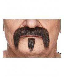 Усы и бородка коричнево-черные