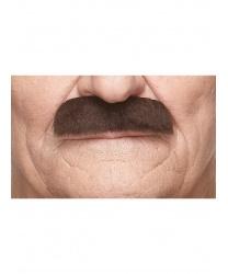 Прямые темно-коричневые усы