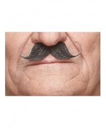 Закрученные накладные усы с сединой