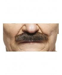 Усы шеврон коричнево-черные