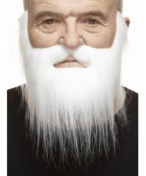 Борода и усы белые