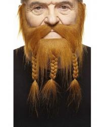 Рыжая пиратская борода с косичками