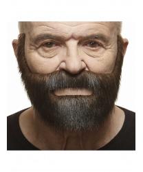 Короткая коричнево-черная борода