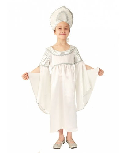 Карнавальный костюм Метель: платье, кокошник (Россия)