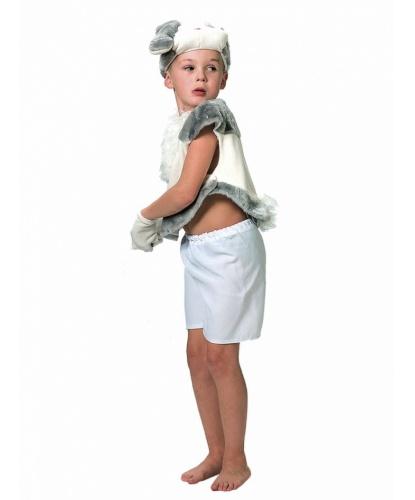 Детский костюм Белый Заяц: шорты, жилет, шапка, перчатки (Россия)