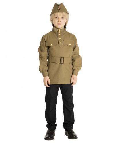 Гимнастёрка с пилоткой и поясом (детская): гимнастёрка, пилотка, пояс (Россия)