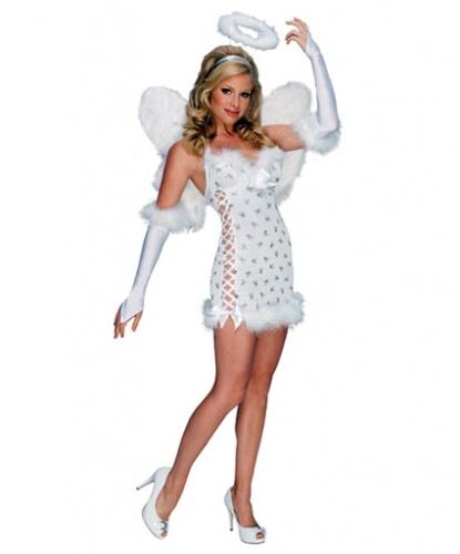 Костюм Playboy Angel: крылья, нарукавники, нимб, платье (Германия)