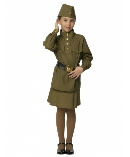 Костюм Гимнастерка с юбкой: гимнастерка, пилотка, пояс, юбка (Россия)