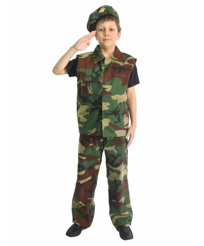 Детский костюм военного: берет, жилет, брюки (Россия)