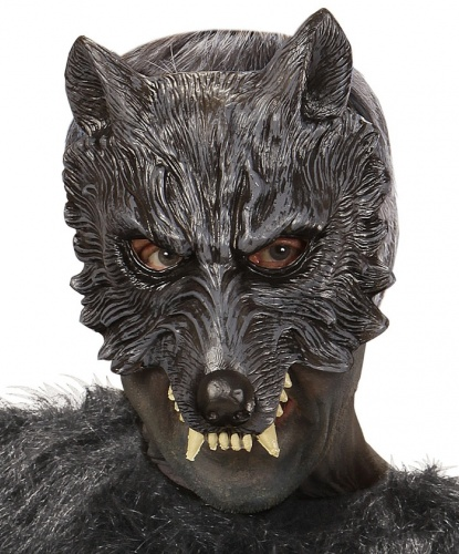 Полумаска волка, латекс (Италия)