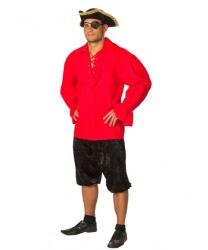 Красная пиратская рубаха