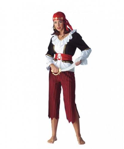 Бриджи и рубашка пиратки: бриджи, пояс, рубашка (Германия)