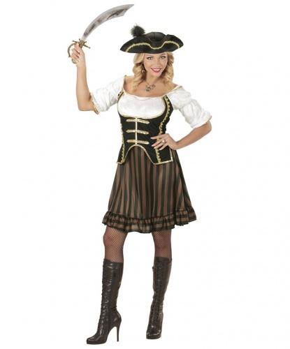 Костюм предводительницы пиратов: платье, головной убор (Италия)