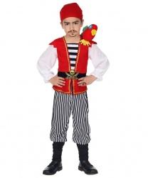 Детский костюм пирата с попугаем