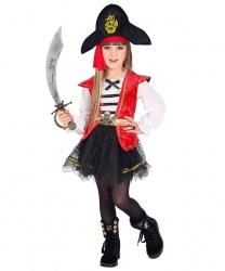 Детский костюм пиратки: платье, головной убор (Италия)
