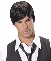 Мужской парик брюнета с челкой