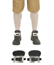 Накладные пряжки с язычком для обуви (серебряные)