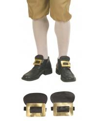 Накладные пряжки с язычком для обуви (золотые)