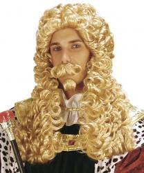 Парик короля с усами и бородкой