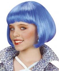 Детский парик голубое каре