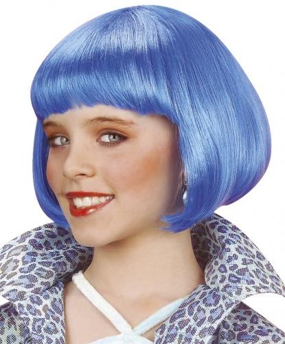 Детский парик голубое каре: голубой (Италия)
