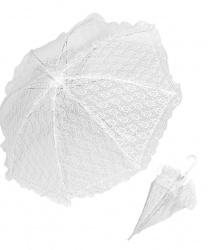 Кружевной белый зонтик (83 см)