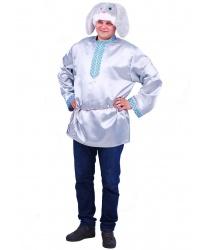 Взрослый костюм Заяц Степаныч: рубашка, шапка (Россия)